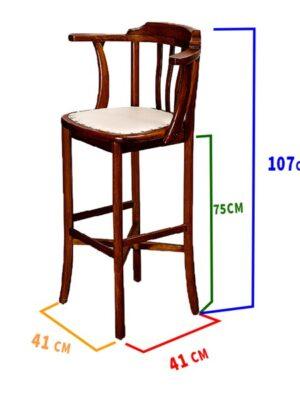 Begüm Ahşap Bar Sandalyesi