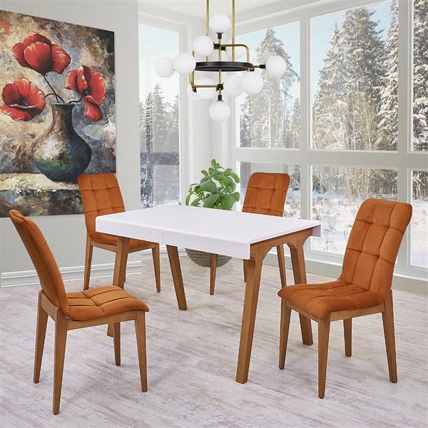 Mono Beyaz Mutfak Masa Takımı